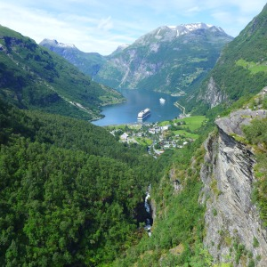 Geiranger as seen from Flydaljuvet